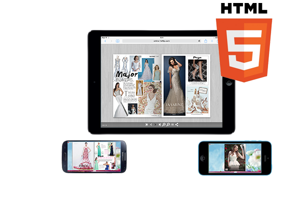 HTML5 page flipping eBook